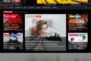 Regular News – News Website WordPress Theme