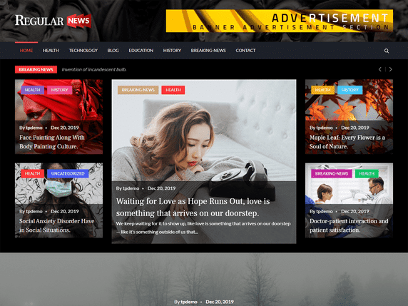 Regular News - News Website WordPress Theme