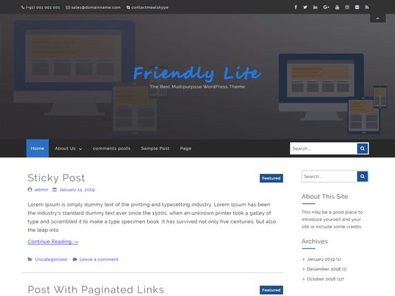 Friendly Lite WordPress Theme