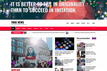 True News – A Free WordPress Theme