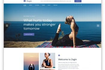 Zogin – Yoga Website HTML Template