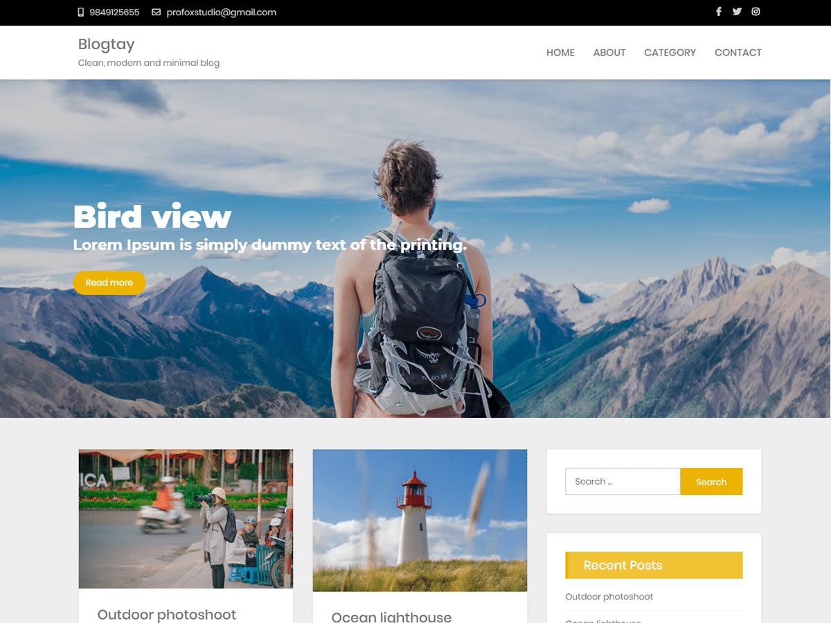 Blogtay - fully responsive WordPress theme