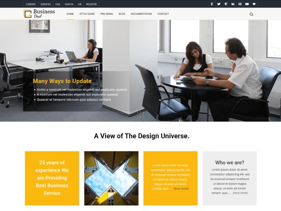 BusinessDeal - business website WordPress theme