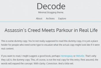Decode Lite – Blog WordPress Theme