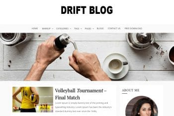 Drift Blog – Free WordPress Theme