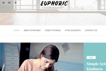 Euphoric – Responsive WordPress Theme