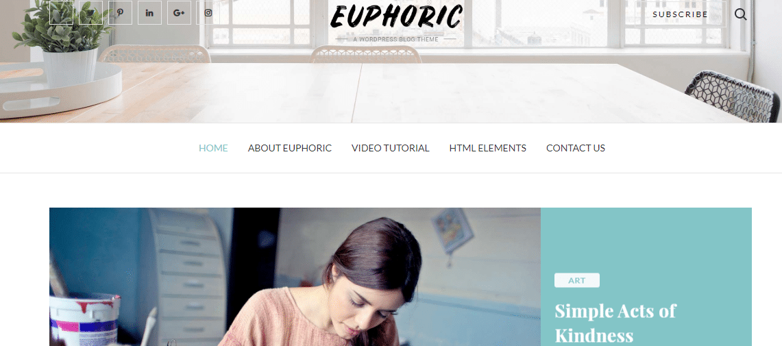 Euphoric - responsive WordPress theme