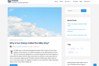 Galaxis – a Lightweight WordPress Theme