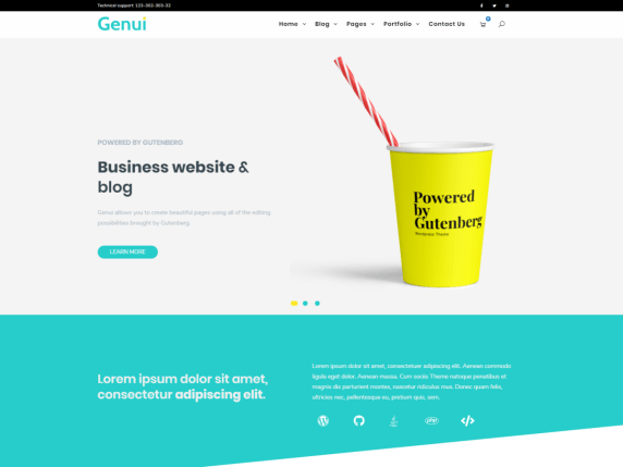 Genui - flexible WordPress theme
