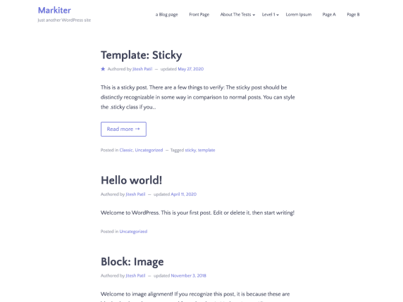 Markiter - marketing website WordPress theme