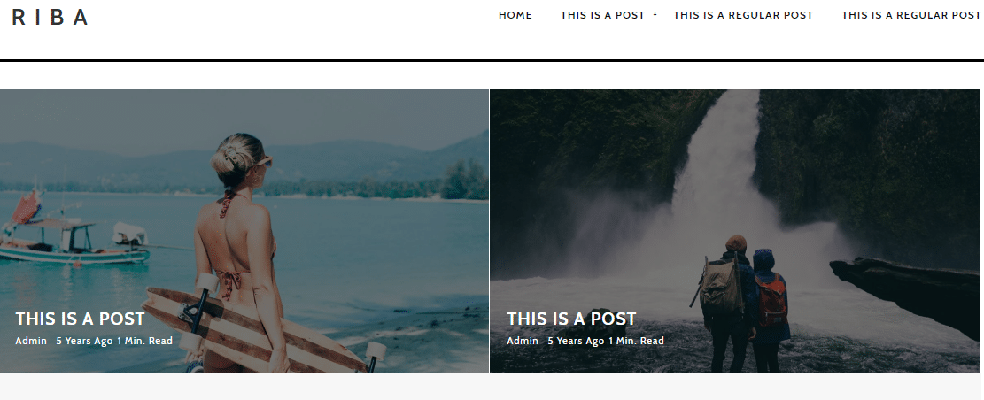 Riba Lite - blog websites WordPress theme