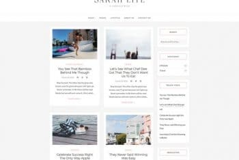 SarahLite – Lifestyle Blog WordPress Theme