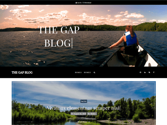 The Gap - modern blog website WordPress theme