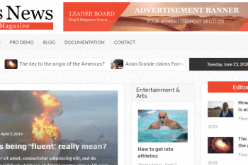 TimesNews – Modern News Website WordPress Theme