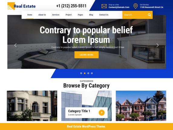 VW Real Estate - real estate website WordPress theme