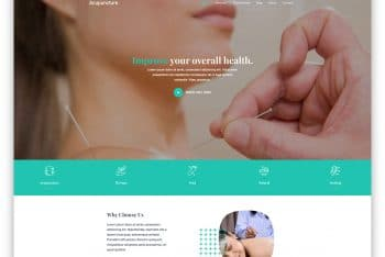 Acupuncture – HTML Template (Free Download)