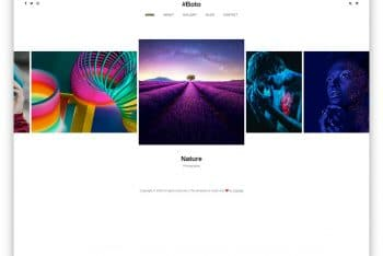 Boto – Photogallery Website HTML Template (Free Download)