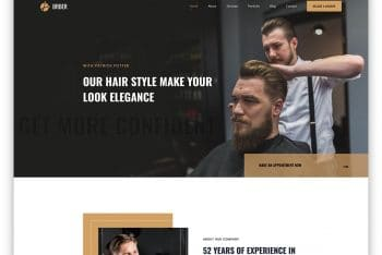Brber – Free Barber/Salon Website HTML Template