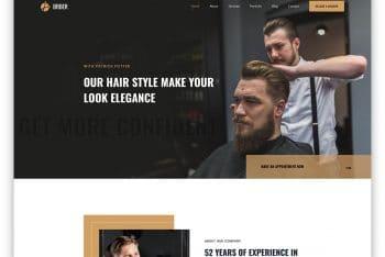 Brber – Free Barber/Salon Website HTML Template