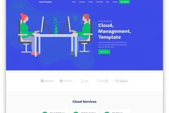 CloudTemplate – Web Hosting Business Website HTML Template