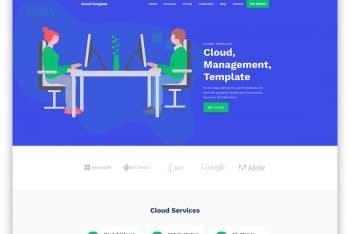 CloudTemplate – Web Hosting Business Website HTML Template