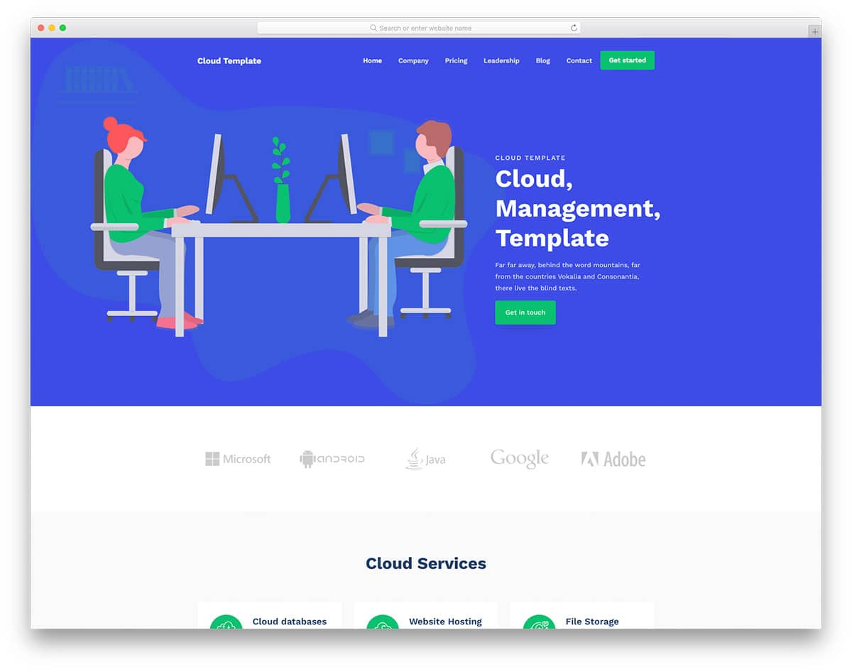 CloudTemplate - web hosting business website HTML template
