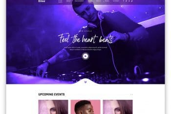 DJoz – DJ Website HTML Template (Free Download)