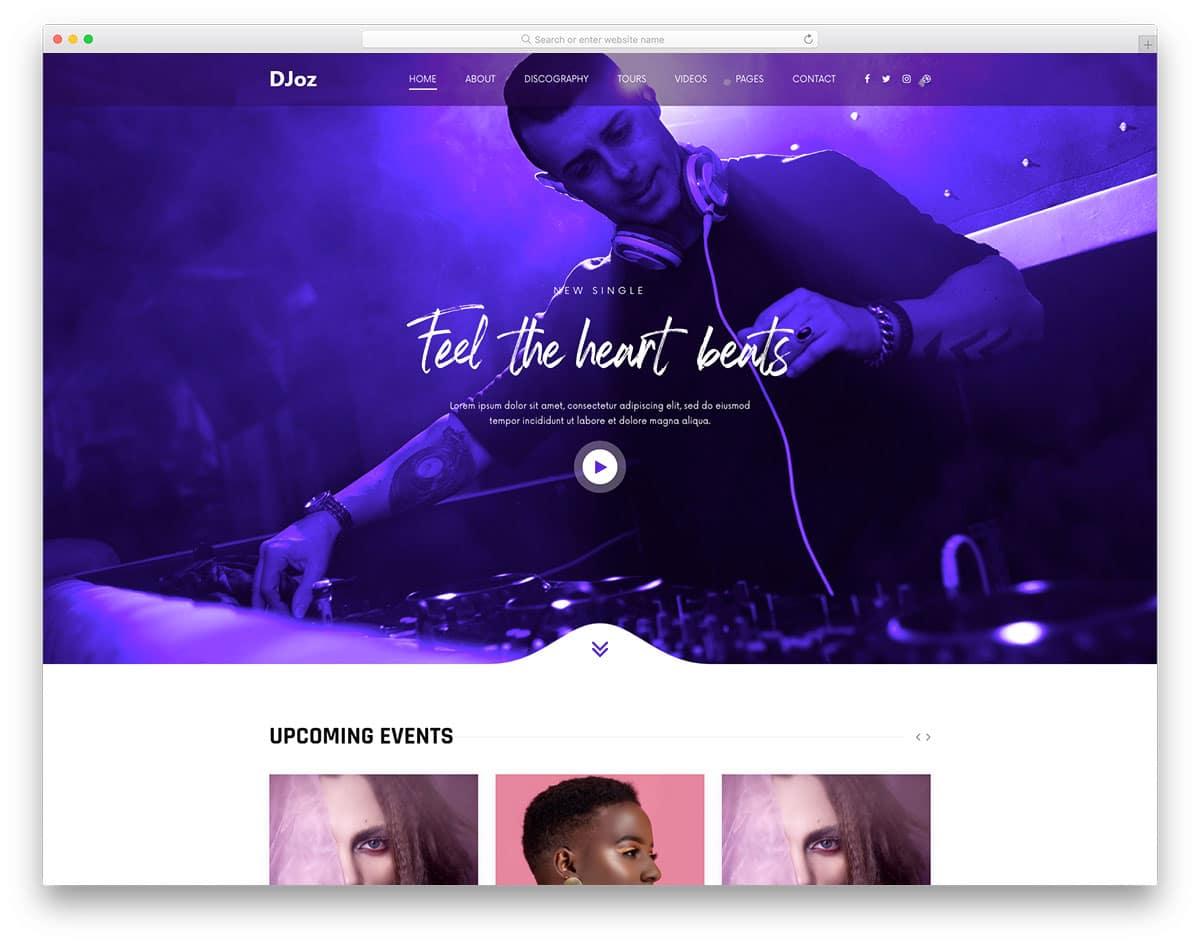 DJoz - DJ website HTML template