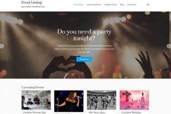 Event Listing – A Beautiful WordPress Theme