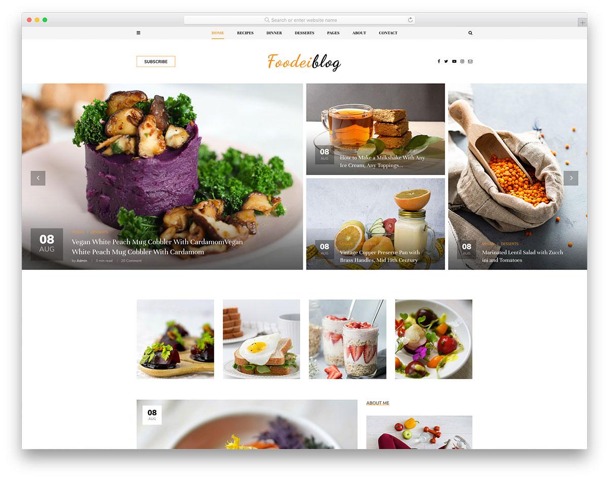 FoodeiBlog - food/recipe blog HTML template