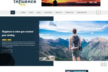 Influence Blog – A Free WordPress Theme for Bloggers