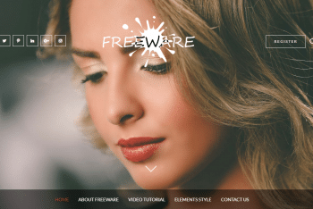 Freeware – A Free WordPress Blog Theme