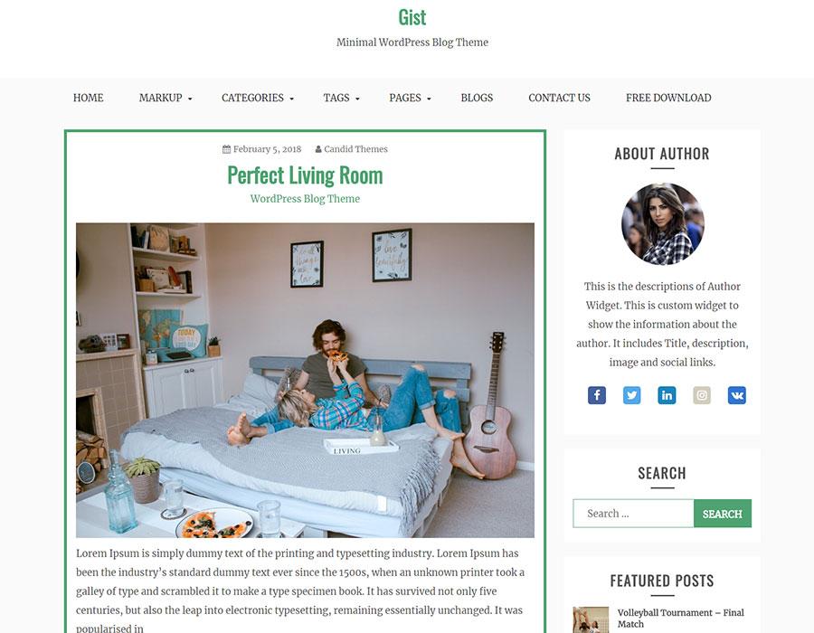 Gist Masonry - news magazine WordPress theme