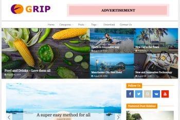 Grip – Free WordPress Theme for News & Magazine Websites