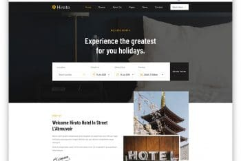 Hiroto – Accommodation Business Website HTML Template