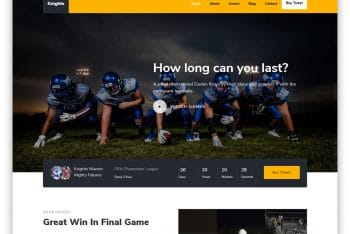 Knights – Football Website HTML Template (Free Download)