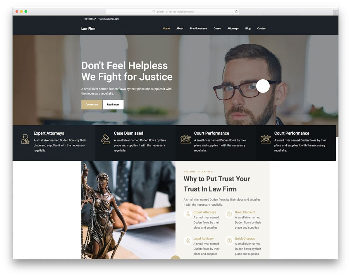 Lawfirm - law agency website HTML template