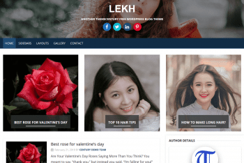 Lekh WordPress – Blog Style WordPress Theme