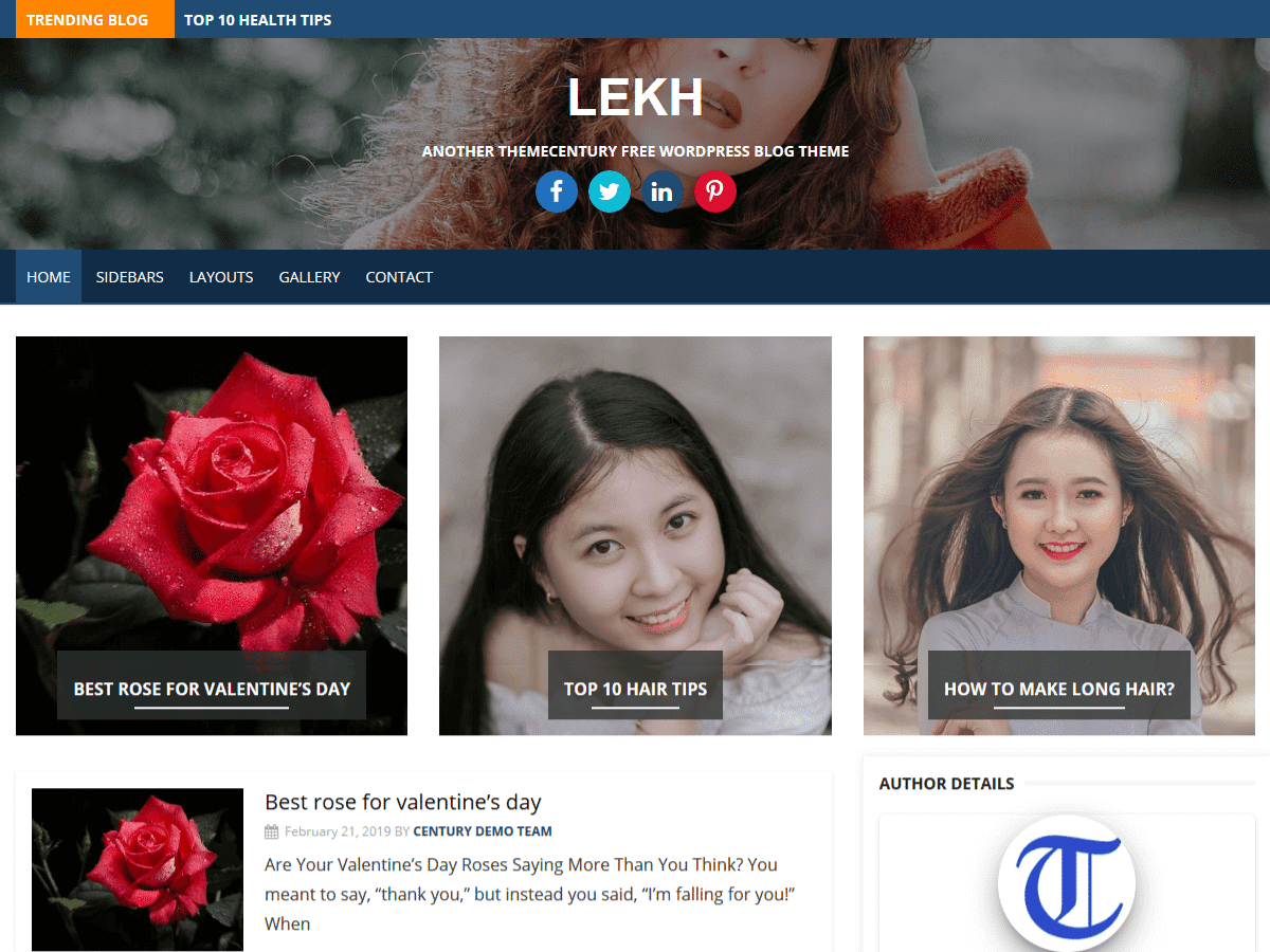 Lekh WordPress - blog style WordPress theme