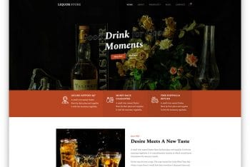 LiquorStore – Liquor Store Website HTML Template