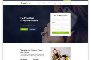 Loanday – Loan Website HTML Template (Free Download)