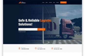 LogisticExpress – Moving Company Website HTML Template