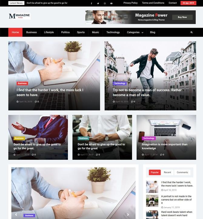 Magazine Power - responsive WordPress theme