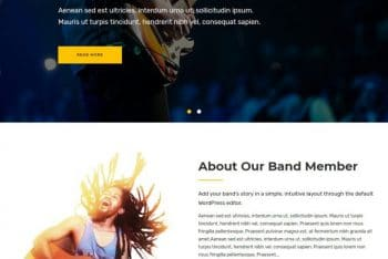Musical Vibe – A Free Responsive WordPress Theme