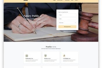 Notary – Notary Website HTML Template