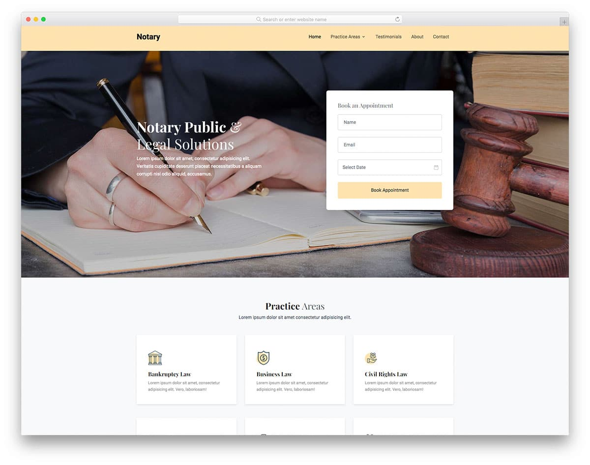 Notary - notary website HTML template