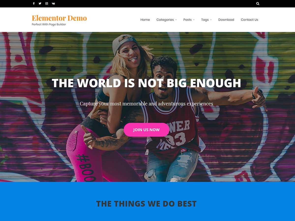 Ocius Grid- clean and minimal free WordPress theme