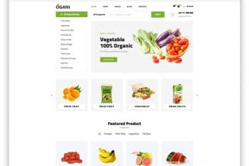 Ogani – Organic Food Website HTML Template (Free Download)