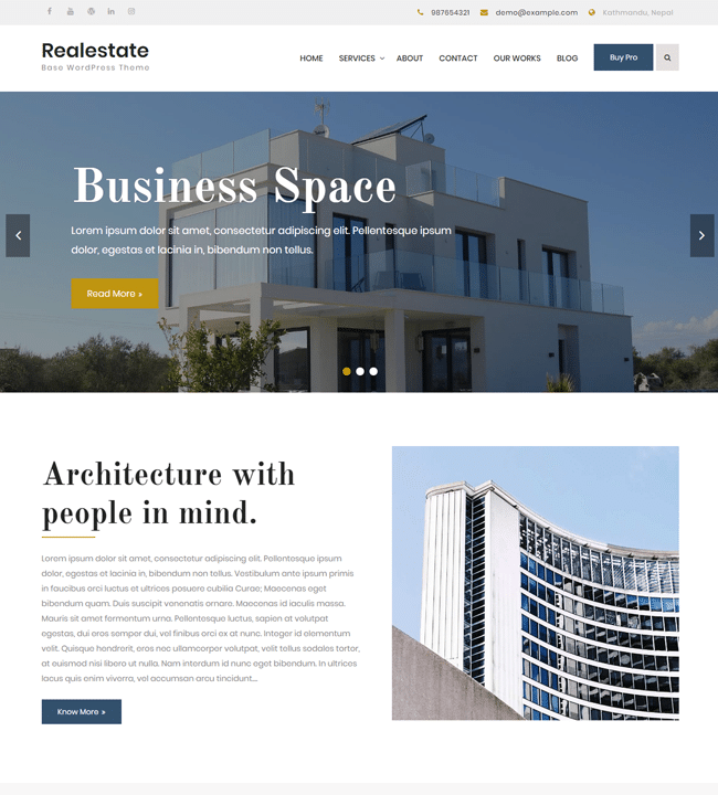 Realestate Base - responsive WordPress theme