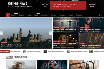 Refined News – A Free Magazine WordPress Theme